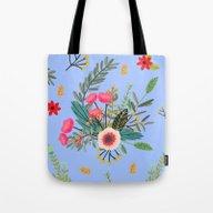 Blue Bouquet Tote Bag