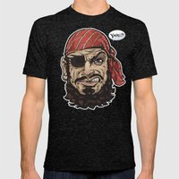 Yarg Pirate! Mens Fitted Tee Tri-Black SMALL