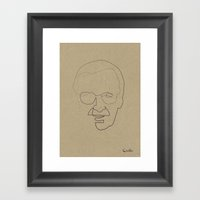 One Line Stan Lee Framed Art Print