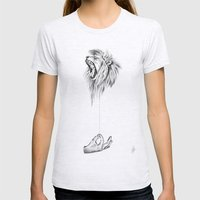 Hear me Roar Womens Fitted Tee Ash Grey SMALL