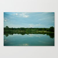 Lake Reflections. Canvas Print