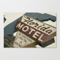 Florida Motel Canvas Print