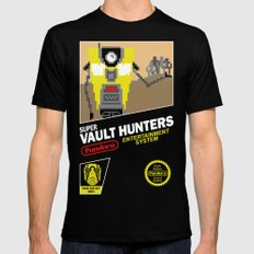 Super Vault Hunters Black Mens Fitted Tee SMALL