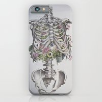 iPhone & iPod Case featuring Floral Anatomy Skeleton by Trisha Thompson Adams