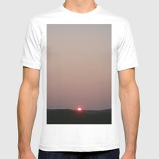 Almost gone White Mens Fitted Tee SMALL