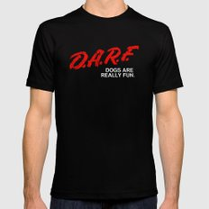 D.A.R.F. SMALL Black Mens Fitted Tee
