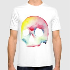 Skull #3 SMALL White Mens Fitted Tee