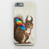 Squirrel with lollipop iPhone 6 Slim Case