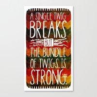 Tecumseh Quote Canvas Print