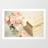Flowers for reading Art Print