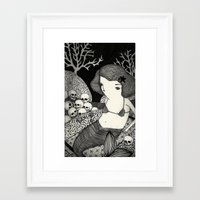 Bitter Mermaid Framed Art Print