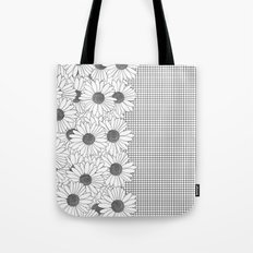 Daisy Grid on Side Tote Bag