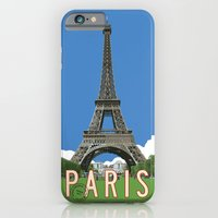 Paris Travel Poster - Vintage Style iPhone 6 Slim Case