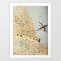 Let's Fly To Chicago Art Print