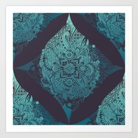 Detailed diamond Art Print