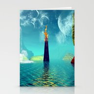 Fantasy Landscape Stationery Cards