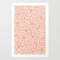 Dahlia Pattern Art Print