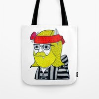 Tote Bag featuring DRUG RUG PORTRAIT #1 by Michael C. Hsiung