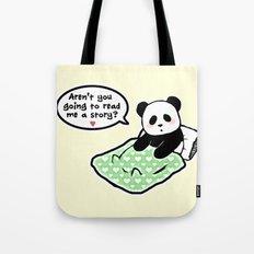 Read panda a story Tote Bag