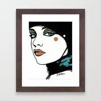 Green Eyeshadow  Framed Art Print