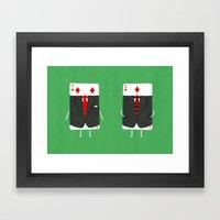 Suited Cards Framed Art Print
