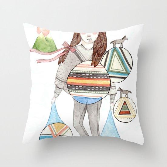 Patterns/Circles Throw Pillow