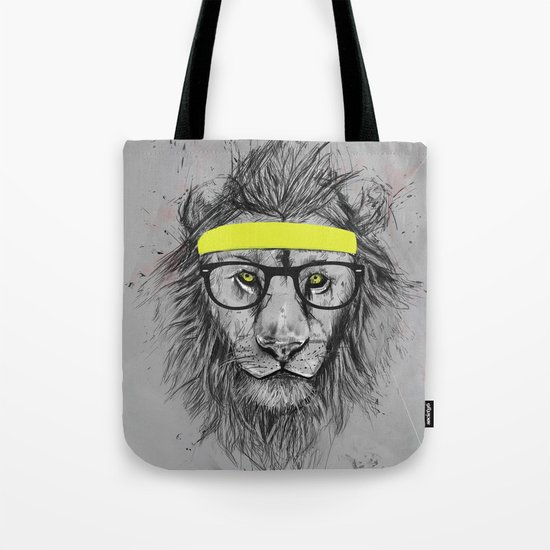 hipster lion Tote Bag