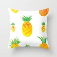 Pineapple Goodness Throw Pillow