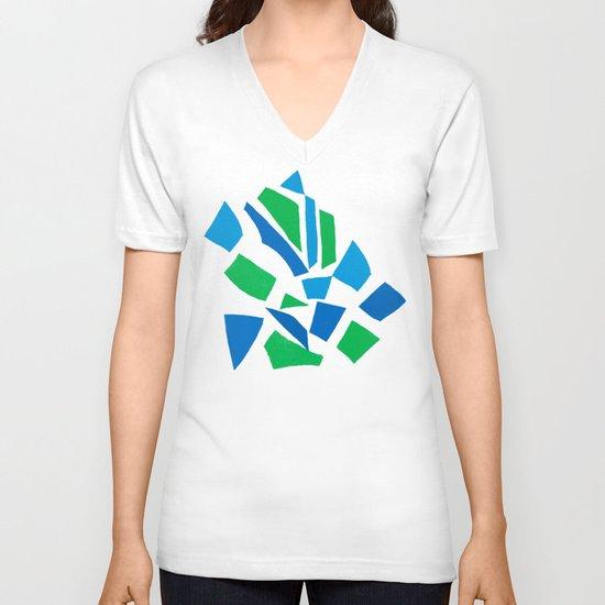 London Green V-neck T-shirt