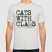 Cats With Claws concert t-shirt Mens Fitted Tee Silver SMALL