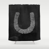 Rose Horse Shoe Shower Curtain