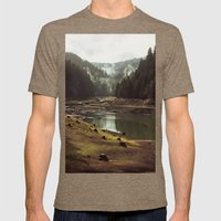 Foggy Forest Creek Mens Fitted Tee Tri-Coffee SMALL