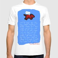 Fly, Little Pig Mens Fitted Tee White SMALL