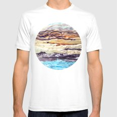 Wax #1 SMALL White Mens Fitted Tee