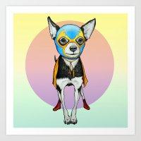 Chihuahua - Luchador  Art Print