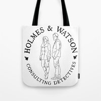 Holmes And Watson Stamp Tote Bag