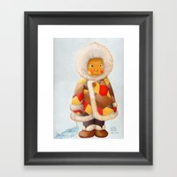A Child Being Lost In Th… Framed Art Print