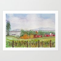 Snow Farm Winery Art Print