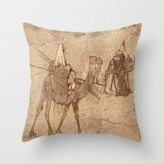 Ship of the Desert Throw Pillow