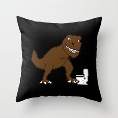 Jurassic Pixel Throw Pillow