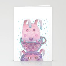 Head in a cup Stationery Cards