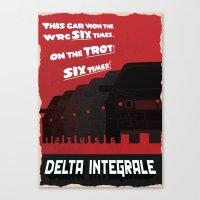 Delta Integrale Canvas Print
