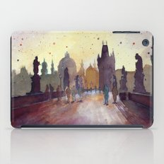 Prague, watercolor explorations in violet  iPad Case