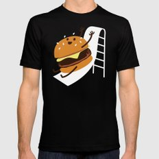 Slider Burger Mens Fitted Tee Black SMALL