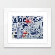 Thanks America / Where Freedom Begins Framed Art Print