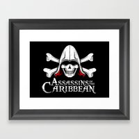 Assassins of the Caribbean Framed Art Print