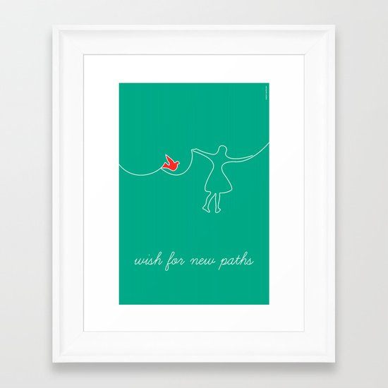wish for new paths Framed Art Print