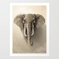Art Print featuring Elephant by Rafapasta
