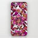 Bright watercolor floral mandala henna hand drawn pattern iPhone & iPod Skin