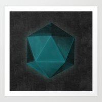 Spatial Geometry Art Print